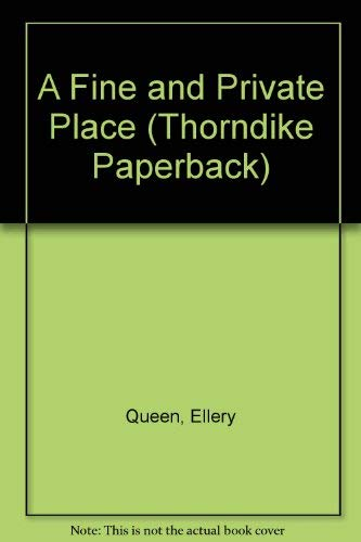 9780783897592: A Fine and Private Place (Thorndike Press Large Print Paperback Series)