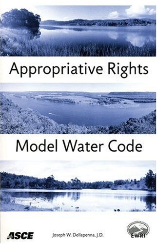 9780784408872: Apppropriative Rights Model Water Code