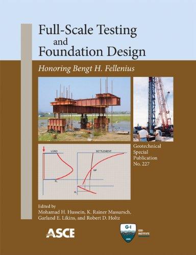 9780784412084: Full-Scale Testing and Foundation Design: Honoring Bengt H. Fellenius