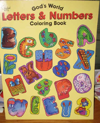 God's World Letters & Numbers (Coloring and Activity Books) (078470757X) by Mahan, Ben