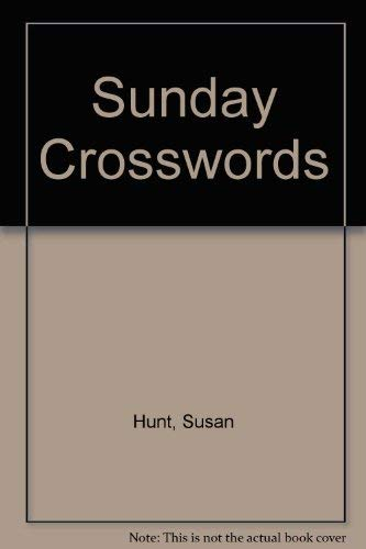 Sunday Crosswords (078470810X) by Susan Hunt; Udell Hunt