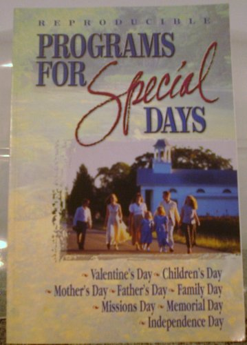 Programs for Special Days: This Great Resource is a New Edition to the Program Book Line. It ...