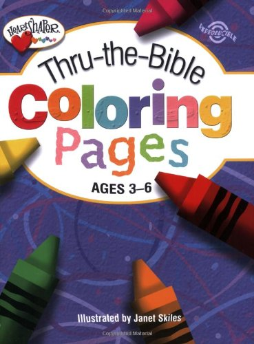 9780784717837: Thru-the-Bible Coloring Pages: Ages 3-6 (Heartshaper)