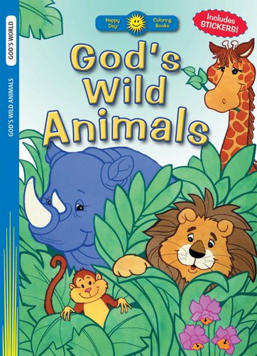9780784720042: God's Wild Animals (Happy Day® Coloring Books: God's World)