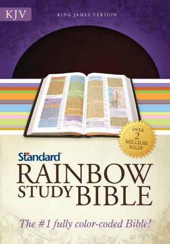 KJV Standard Rainbow Study Bible, Brown Bonded Leather: Standard Publishing