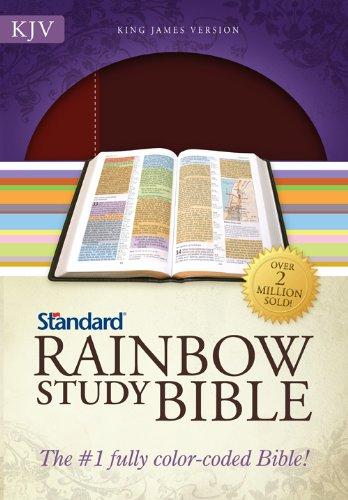9780784733134: KJV Standard Rainbow Study Bible, Brown/Chestnut LeatherTouch