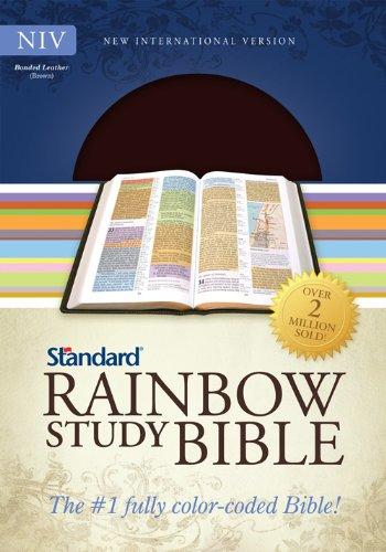 9780784733165: NIV Standard Rainbow Study Bible, Brown Bonded Leather