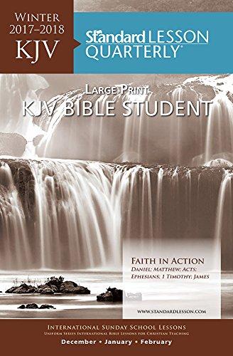 9780784739655: KJV Bible Student Large Print—Winter 2015-2016 (Standard® Lesson Quarterly)