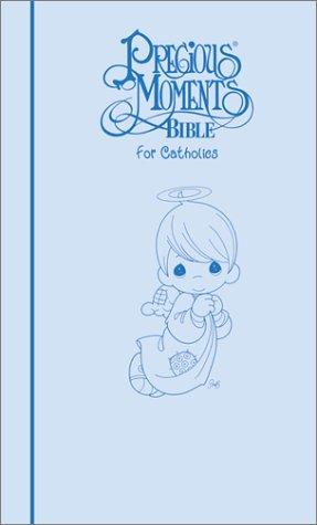 9780785200536: Precious Moments Bible for Catholics: 1271Bn Tev Blue Leatherflex