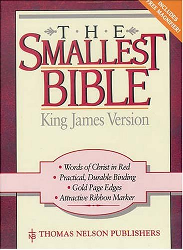 9780785201625: Holy Bible King James Version the Smallest Bible Snap Flap