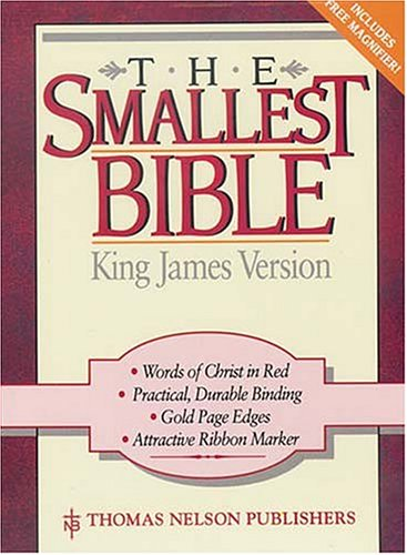 9780785201632: Holy Bible King James Version the Smallest Bible Snap Flap