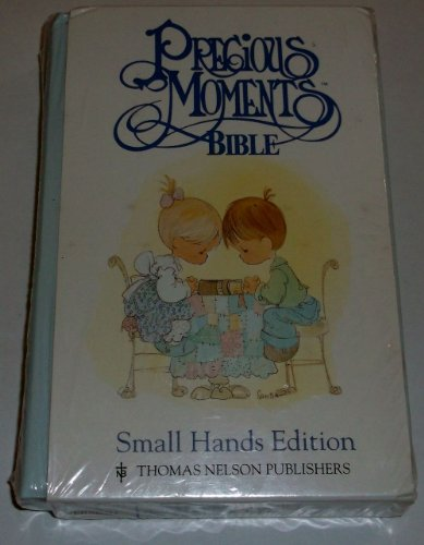 9780785202011: Holy Bible New King James Version Precious Moments Small Hands/Blue