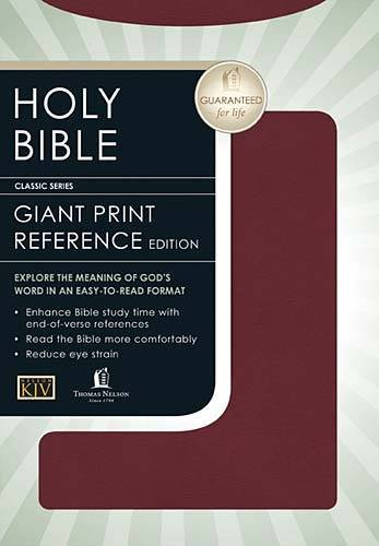 KJV Bible: Personal Size Giant Print Reference Edition: Thomas Nelson