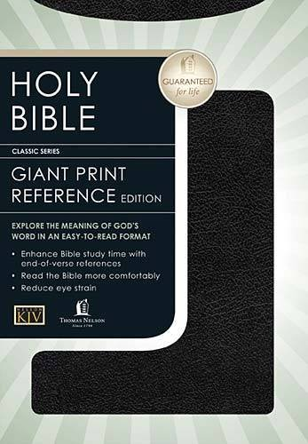 9780785202646: KJV, End-Of-Verse Reference Bible, Personal Size, Giant Print, Bonded Leather, Black
