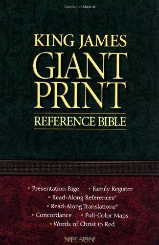 9780785202684: Holy Bible King James Version Giant Print Reference Edition/Burgundy Leatherflex