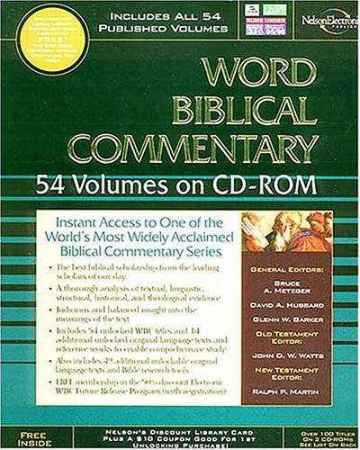 9780785213925: The Word Biblical Commentary on CD-ROM: 54 Volume Edition