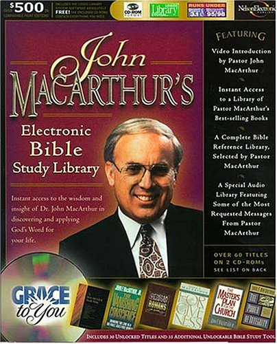 John Macarthur's Electronic Bible Study Library (9780785213956) by John MacArthur