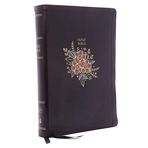 KJV, Deluxe Reference Bible, Super Giant Print, Leathersoft, Black, Thumb Indexed, Red Letter ...