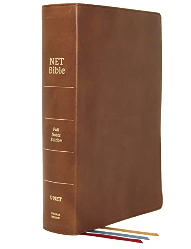 9780785225119: NET Bible, Full-notes Edition, Genuine Leather, Brown, Comfort Print: Holy Bible