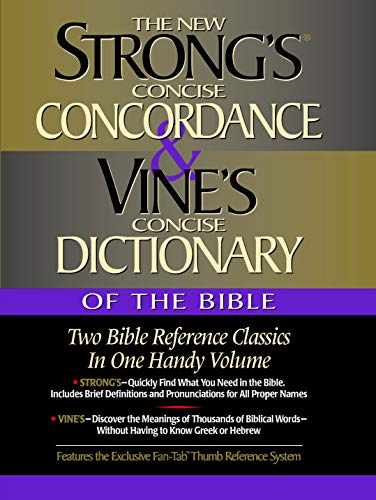 Strongs Concise Conc & Vines Concise Dictionary