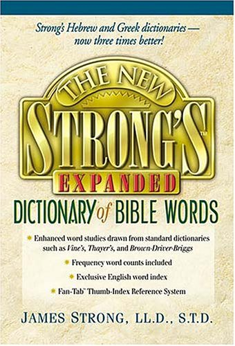 New Strongs Expanded Dictionary Of Bible Words S/S