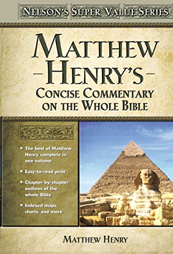 9780785250470: Matthew Henry's Concise Commentary on the Whole Bible