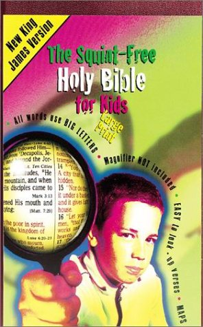 9780785256748: Squint Free Holy Bible for Kids: New King James Version Burundy