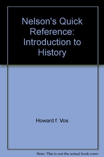 9780785282402: Introduction to Church History (Nelson's Quick Reference)
