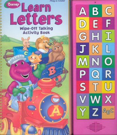 9780785363965: Barney Learn Letters Wipe-Off Talking Activity Book (Play-a-Sound)