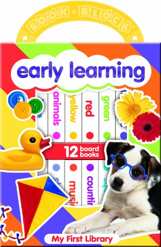 My First Library: Early Learning: 12 Board Book Block
