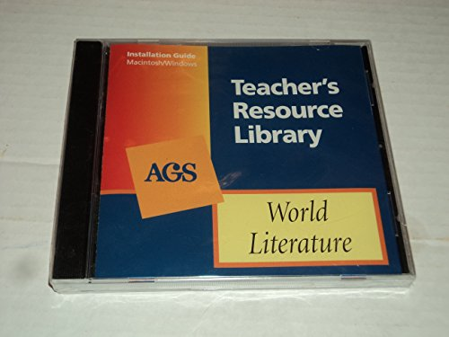 WORLD LITERATURE TEACHER'S RESOURCE LIBRARY ON CD-ROM: Secondary, AGS