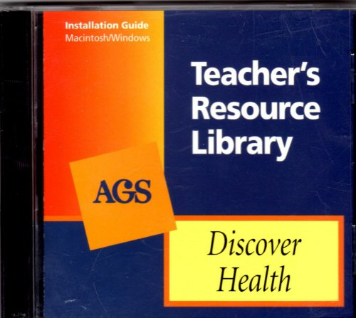 9780785418450: DISCOVER HEALTH TEACHER'S RESOURCE LIBRARY ON CD-ROM (Ags Discover Health)