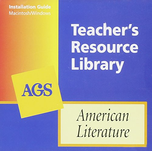 9780785418818: American Literature Teacher's Resource Library on CD-ROM