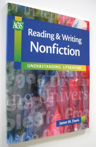 9780785424239: UNDERSTANDING LITERATURE READING AND WRITING NONFICTION (Ags Reading Backlist)