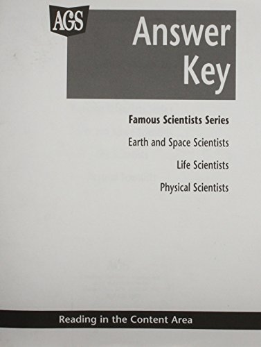 9780785424284: READING IN THE CONTENT AREA: SCIENCE- FAMOUS SCIENTISTS SERIES ANSWER KEY (AGS SCIENCE BACKLIST)