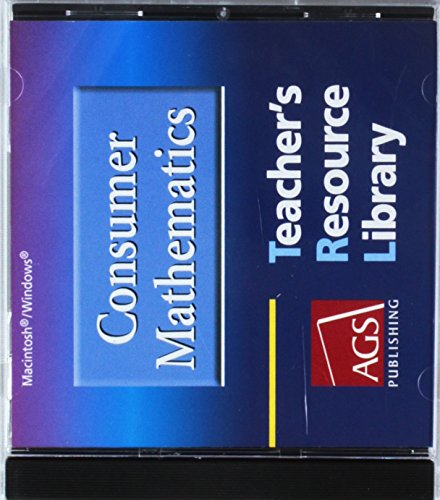 9780785429470: CONSUMER MATHEMATICS TEACHERS RESOURCE LIBRARY ON CD-ROM FOR MACINTOS H AND WINDOWS (Ags Math for Consumer)