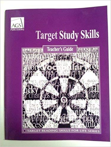 9780785433767: TARGET STUDY SKILLS TEACHERS GUIDE (Ags Reading)