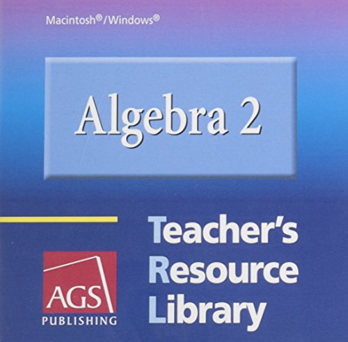 9780785435471: ALGEBRA 2 TEACHER'S RESOURCE LIBRARY INCLUDES STUDENT WORKBOOK AND SEL F-STUDY GUIDE ON CD-ROM FOR WINDOWS AND MACINTOSH