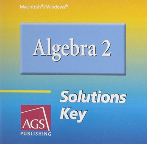 9780785435501: ALGEBRA 2 SOLUTIONS KEY ON CD-ROM (WINDOWS AND MACINTOSH)