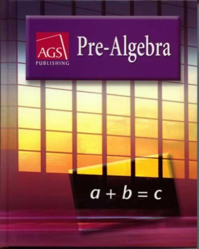 9780785435587: PRE-ALGEBRA WORKBOOK ANSWER KEY