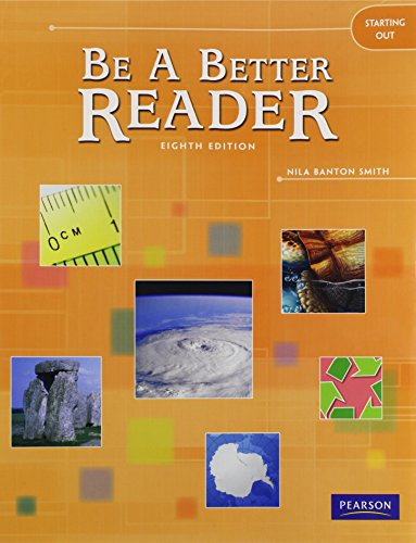 9780785466451: BE A BETTER READER STARTING OUT STUDENT WORKTEXT (Pacemaker World History)