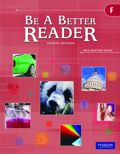 9780785466611: BE A BETTER READER LEVEL F, 8th Edition