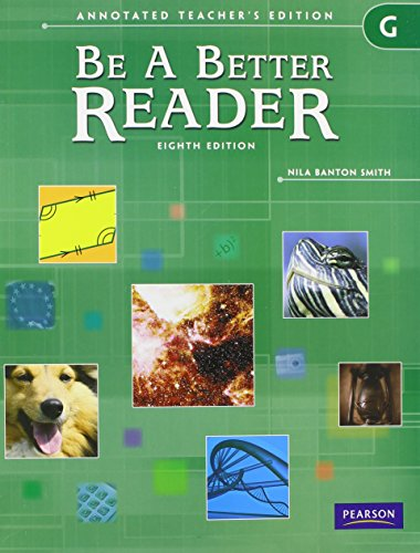 9780785466697: BE A BETTER READER LEVEL G ATE