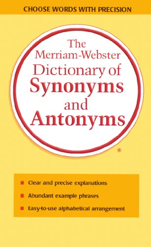 9780785758617: Merriam-Webster Dictionary of Synonyms and Antonyms