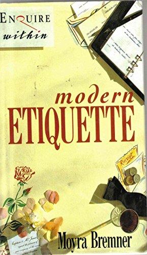 Modern Etiquette (0785801162) by Moyra Bremner