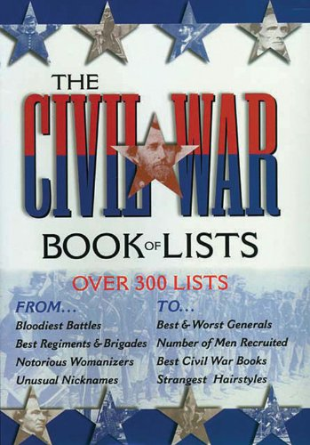 9780785817024: The Civil War Book of Lists: Over 300 Lists, from the Sublime...to the Ridiculous
