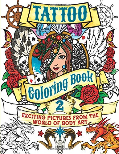 9780785832522: Tattoo Coloring Book 2: Exciting Pictures from the World of Body Art (Arcturus Coloring Books)