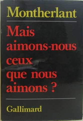 9780785901112: Mais Aimons Nous Ceux Que Nous Aimons?