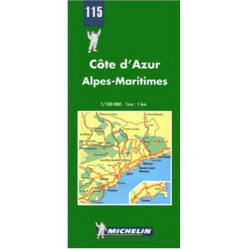 9780785901815: Michelin Map No. 115: Cote D'Azur (French Riviera - France) (French Edition)