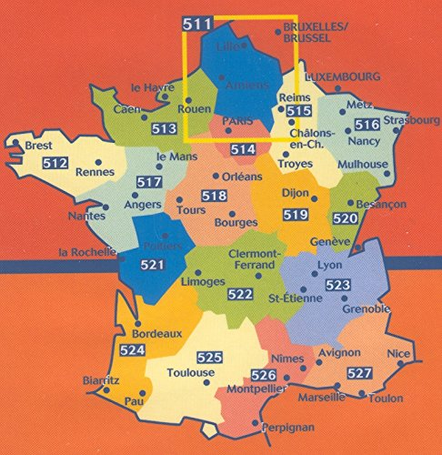 9780785902058: Michelin Map No. 518 Centre France: Orleans, Gien, Auxerre, Tours, Bourges, Saulieu, Nevers, Moulins, Chateauroux, Montlucon (Berry-Nivernais) ... scale : 1 inch = 3.16 mile (French Edition)